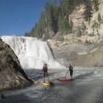 Having fun at the Base of Wapta Falls