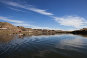 Stand Up Paddleboarding on Calgary Lake